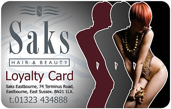 Saks Hairdressers loyalty card.