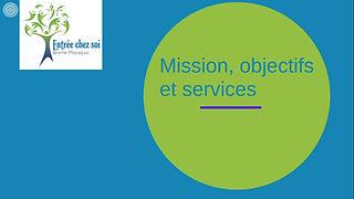 Mission, objectifs et services d'Entrée chez soi Brome-Missisquoi