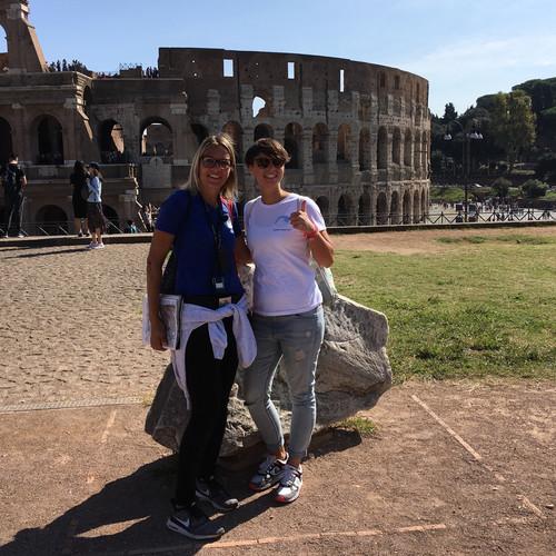 2018: Annett und ich wieder im Forum Romanum