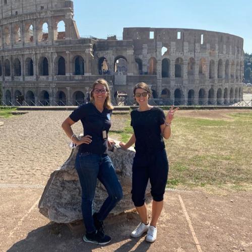 2020: Annett und ich im Forum Romanum
