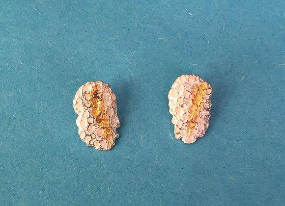 Orecchini foglia d'oro