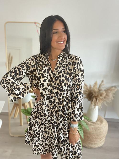 Robe KATIA courte léopard