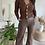 Thumbnail: Pantalon en simili cuir marron FLARE