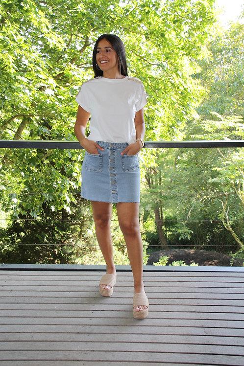 Jupe en jeans boutonnée