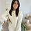 Thumbnail: Robe pull à capuche écrue VALENTINA