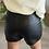 Thumbnail: Short JUDITH en simili cuir noir