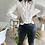 Thumbnail: Pantalon noir bootcut en simili cuir