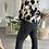 Thumbnail: Pantalon bootcut noir huilé