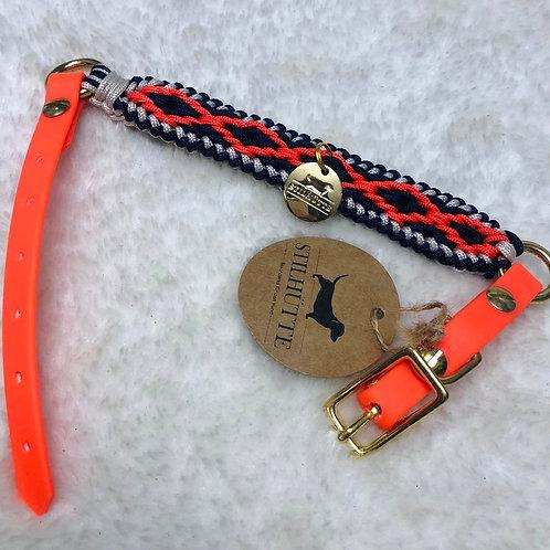 Collier pour chiens STILLHUTTE orange fluo et noir