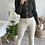 Thumbnail: Pantalon en simili cuir beige FLARE