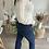 Thumbnail: Pantalon bootcut bleu foncé