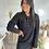 Thumbnail: Robe pull polo noir PAULINA