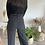 Thumbnail: Pantalon fluide ligné noir et blanc