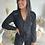 Thumbnail: Salopette en coton noire boutonnée et ceinturée