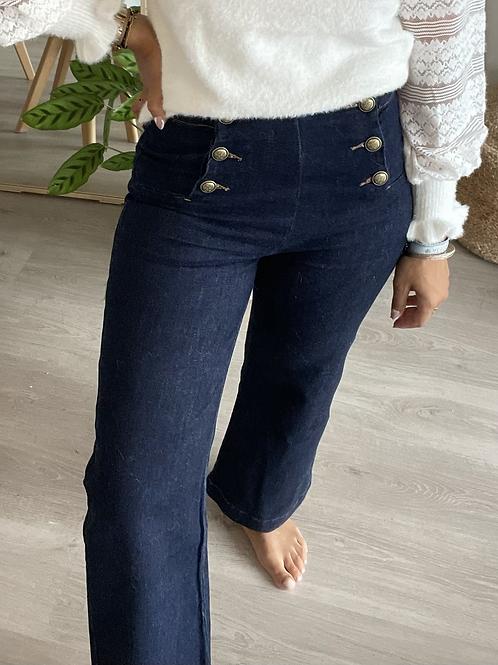 Pantalon MATHILDE bleu marine