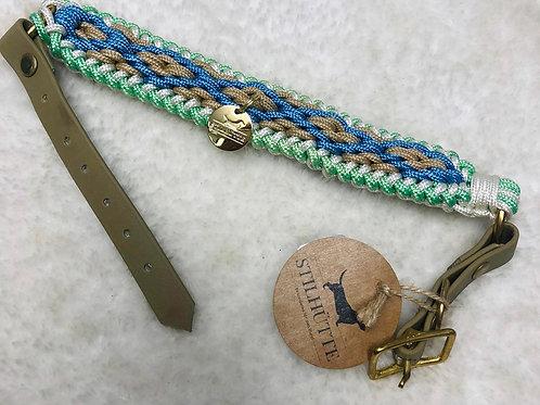 Collier pour chiens STILLHUTTE kaki et turquoise