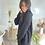 Thumbnail: Robe pull à capuche noire VALENTINA