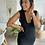 Thumbnail: Robe pull noire JEANNE col V