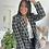 Thumbnail: Blazer noir et blanc à carreaux SELINA