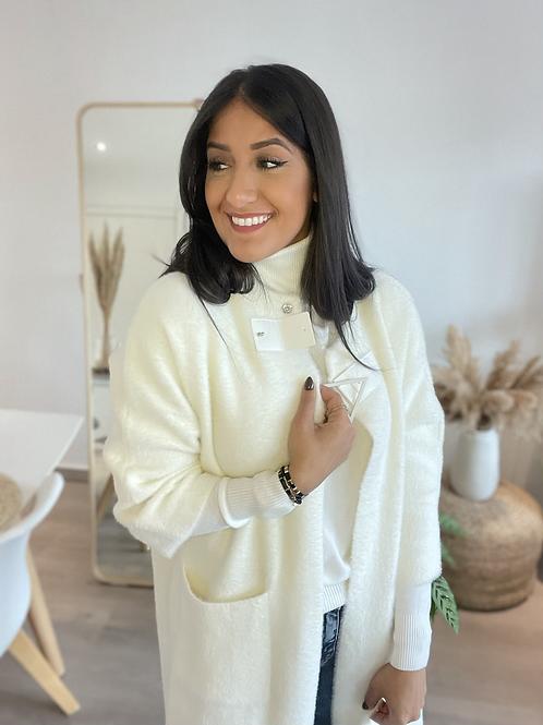 Gilet/veste blanche tout doux