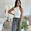 Thumbnail: Pantalon BELLA noir et blanc fluide