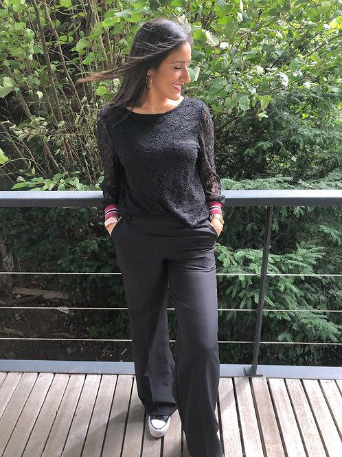 Pantalon noir La Croisette Fashion