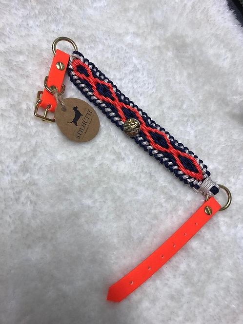 Collier pour chiens STILLHUTTE orange fluo et bleu marine