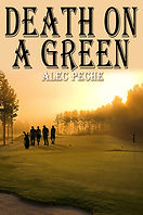 Book cover for mystery novel death on a green