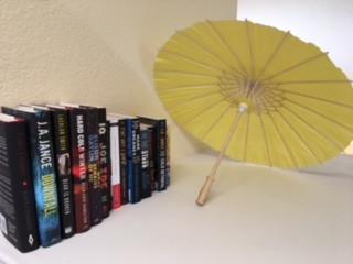Books and Paper Umbrellas