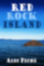 Book cover for mystery novel Red Rock Island
