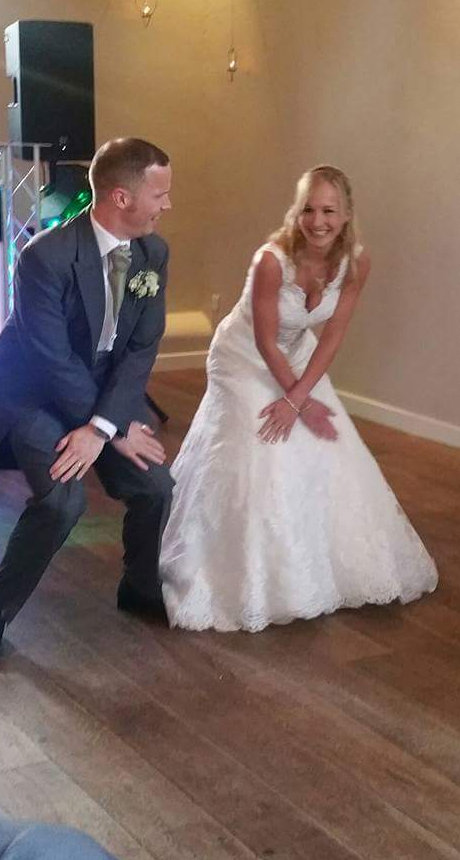Tom and Leah perform their wedding dance in northampton