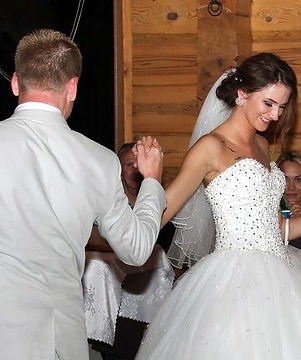 Alina and Kaspars perform their wedding dance