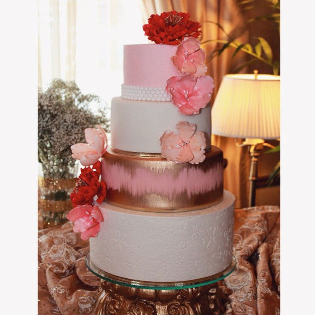 pink textured and flower cake.jpg