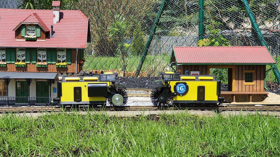 Bürstenwagen Gartenbahn