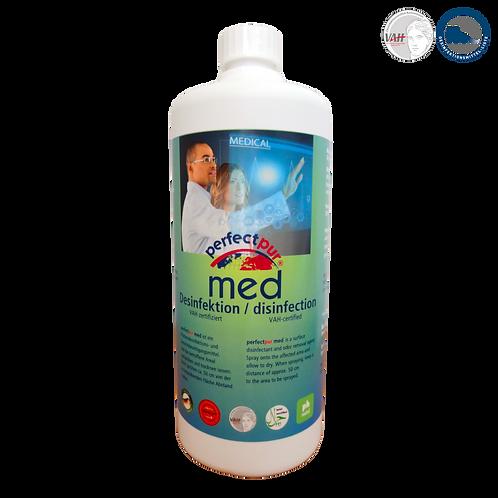 Hochwirksames Desinfektionsmittel PERFECT PUR MED - 1L