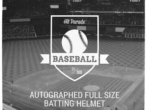 Autographed Full-Size Baseball Batting Helmet Hobby Box