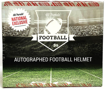 National Exclusive Autographed Full Size Football Helmet Hobby Box