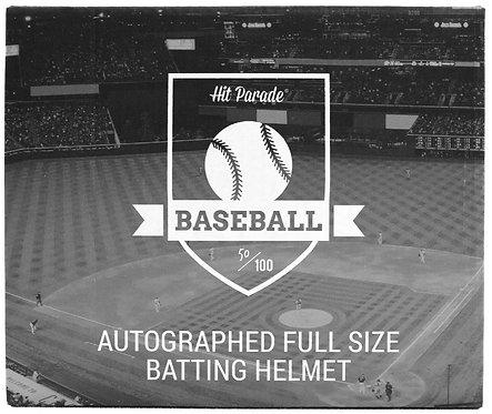 Autographed Baseball Batting Helmet Hobby Box