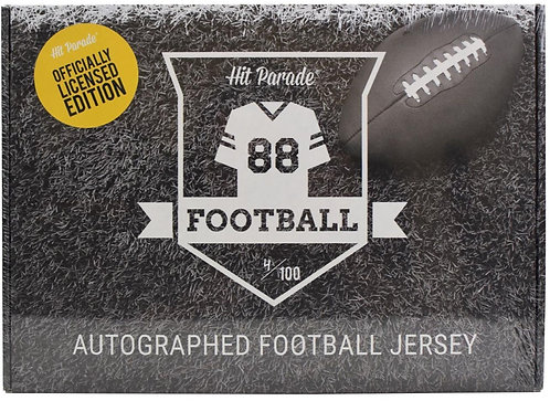Autographed Officially Licensed Football Jersey Hobby Box
