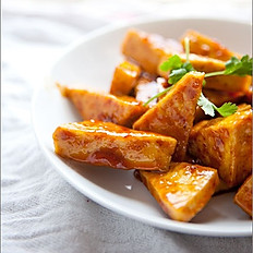 Fried Tofu Wedges