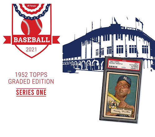 1952 Topps Baseball Graded Edition Hobby Box