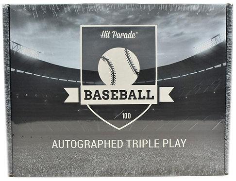Autographed TRIPLE PLAY Baseball Edition Hobby Box