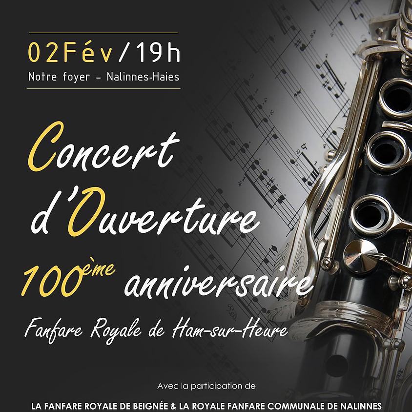Concert d'ouverture du 100ème anniversaire de la Fanfare Royale de Ham-sur-Heure