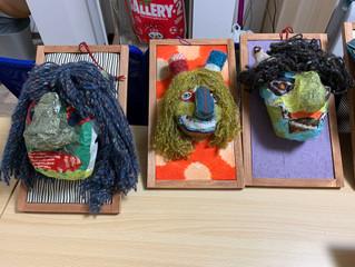 近藤喜代子さんの臨床美術ワークショップ第4弾「節分の鬼のオブジェ作り♪」