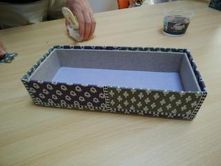 石田のぶえさんの手芸教室第2弾! 「カルトナージュに入門! 素敵な箱をつくりましょう♪」