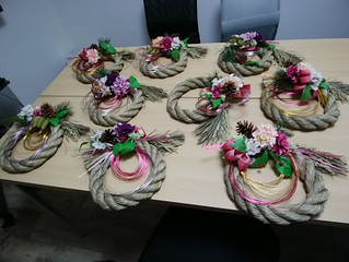 本多倫子さんのフラワーアレンジメント教室第3弾「お正月飾りを作りましょう♪」