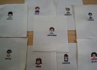 ラピンタイカさんの手芸教室第11弾 「自分の顔アイコンを刺繍してみましょう♪」