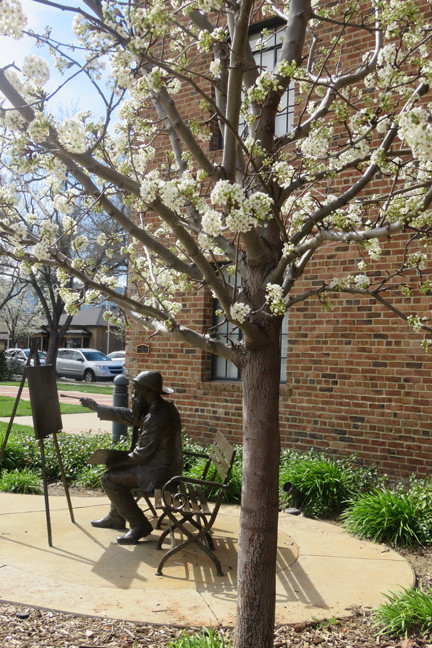 It was a pleasant spring day arriving at the Arts Center, meeting Mr. Monet in the garden.
