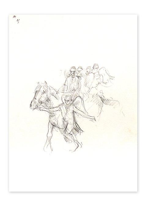 Zingaro, Ange à cheval 3 (30 x 21 cm)