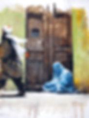 Afghanistan Les Hirondelles de Kaboul Femme en burka peinture Emmanuel Michel